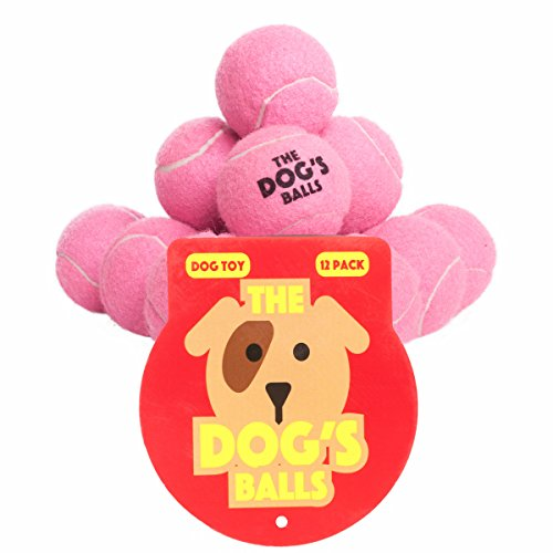 (The Dog's Balls, 12 Premium Dog Tennis Balls, Ball for Puppy Training, Play, Exercise & Fetch, Fits Chuckit Launchers, Bouncy Dog Tennis Balls Thicker than Regular Balls, the King Kong of Balls)
