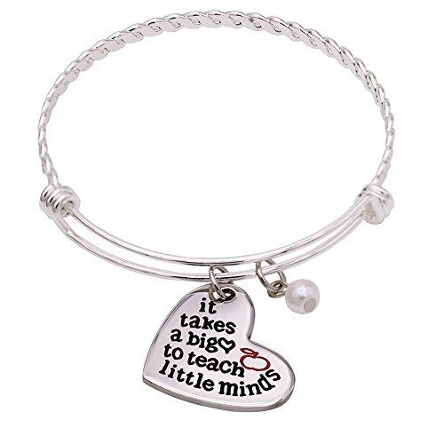 O.RIYA It Takes A Big Heart To Teach Little Minds Bracelet / Keychain (Twist-Bangle)