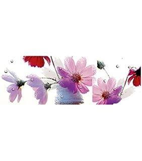 çiçekler 4 Parça Kanvas Tablo 70x70 Cmduvar Resmi Yağlı Boya Tablo