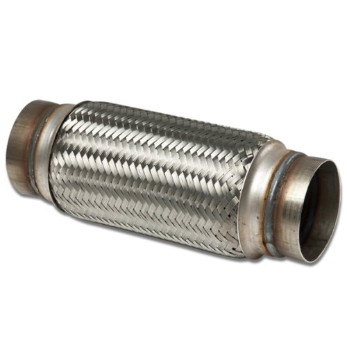 "3.5"" Inlet Stainless Steel Double Braided 10"" Flex Pipe Connector (12"" Overall Length)"