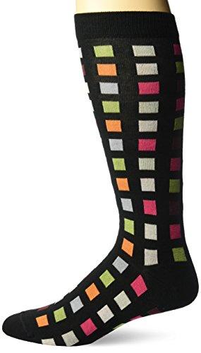Ozone Men's Square Flair Sock, Black, 10-13