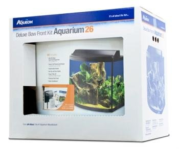 Aqueon 06439 Bow Front Aquarium Kit 26, Black