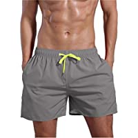 oranssi Men 's Quick Dry Swim Trunks Traje de baño playa pantalones cortos