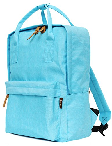 Leaper Extra Lightweight Casual School Backpack Cool Travel Daypack Laptop Bag (Water Blue)