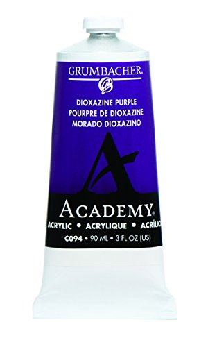 Grumbacher Academy Acrylic Paint, 90ml/3 oz Metal Tube, Dioxazine Purple