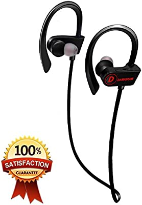 DAMIGRAM Auriculares Inalámbricos, Bluetooth Deportivos 4.1 In-Ear Cascos Deportivos Inalámbricos con Micrófono y Cancelación de Ruido y Impermeables IPX7 para iOS y Android Smartphones (Black): Amazon.es: Electrónica