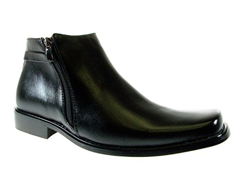 Majestic Mens 38307 Ankle High Double Zippered Classic Boots (6 D (M) US, Black)