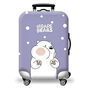TDC Men's Elastic Luggage Cover Luggage Suitcase Protector S Purple