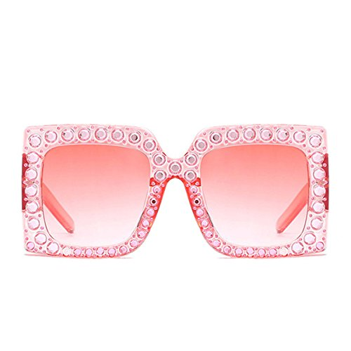 NEW MODEL 2018!!! Generic Oversized Bling Rhinestone Square Frame Sunglasses Women Fashion - Model Sunglasses New