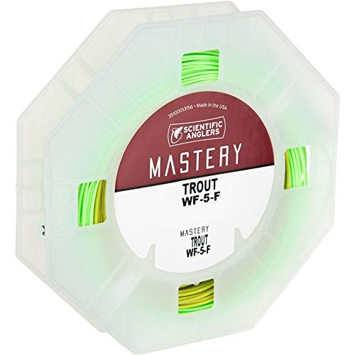 Scientific Anglers Trout Taper- Dry Tip Tech W/ Loop - Optic Green / Green, WF -5-F ()