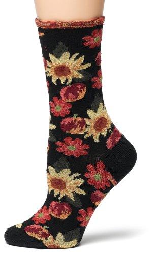 Ozone Women's Petunia Pomme Soleil Socks,Black,
