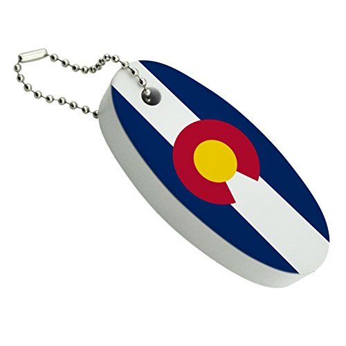 Colorado State Flag Floating Foam Keychain Fishing Boat Buoy Key Float (Key Floating Tag)