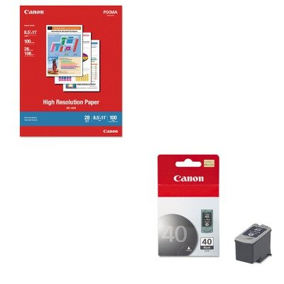 KITCNM1033A011CNMPG40 - Value Kit - Canon PG40 PG-40 Ink Tank (CNMPG40) and Canon High Resolution Paper ()