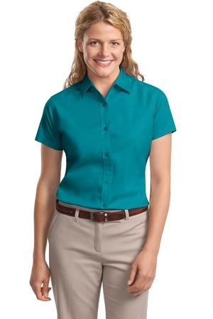 Port Authority Women's Ladies Short Sleeve Easy M Teal Green from Port Authority