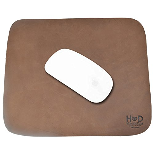 (Thick Leather Durable Mouse Pad/Office Essentials Handmade by Hide & Drink :: Bourbon)