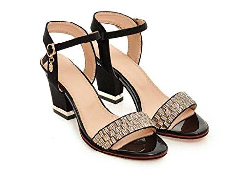 Glissement Daily Strass 35 Beige 7cm Shopping 41 Sandales Black Élégant 32 Rouge Femme Noir xie Violet awvgIxEq