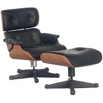 amazon com dollhouse miniature eames chair and ottoman toys games