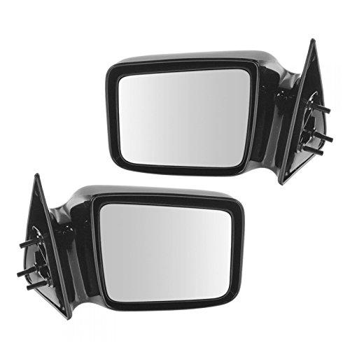 Dodge Dakota Pickup Manual - Manual Side Mirrors Set Pair Left LH & Right RH for 87-96 Dakota Pickup Truck
