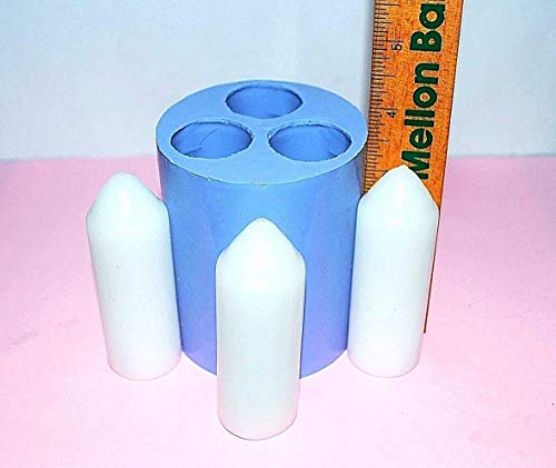 Uco Beeswax Candles - Silicone UCO candle Mold Lantern taper 3 cavities easy release Homemade