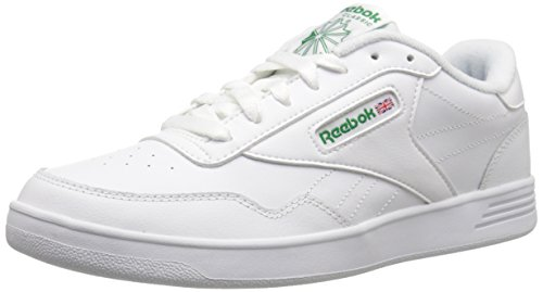 (Reebok Men's Club MEMT Sneaker, White/Glen Green, 10.5 M US)