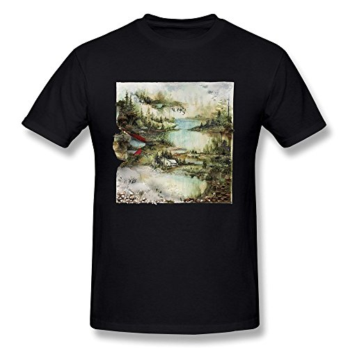 DONVAN Men's Bon Iver Album T-shirt L Black