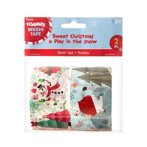 Darice Christmas Washi Tape - 2 Rolls, 2 inches Wide