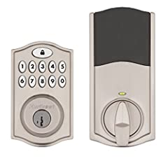 """""""Add convenience and security to your home with the SmartCode 914 keypad electronic deadbolt. This Kwikset Smartcode lock (Amazon Key Edition) works exclusively with Amazon Key. Amazon Cloud Cam Key Edition is required to use with Amazon Key...."""