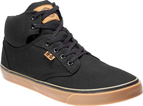 HARLEY-DAVIDSON Men's Wrenford Sneaker, Black, 08.0 M US