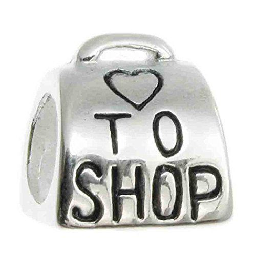 Sterling Silver Love to Shop Heart Bead for