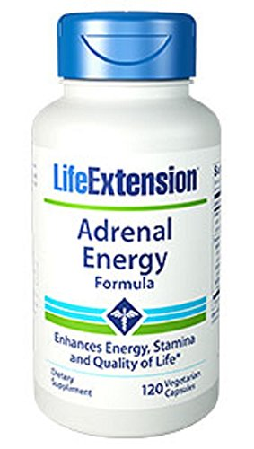 Life Extension Adrenal Energy Formula Vegetarian Capsules, 120 Count (Energy Support Formula)