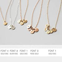 Personalized Engraved Multi Disc Necklace 6 Millimeter