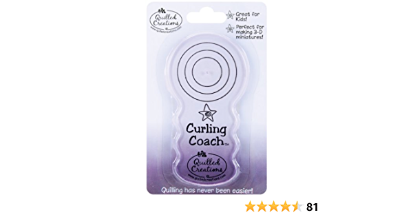 CURLING COACH-Quilled Creations//Quilling Paper Tool-Cardmaking//Scrapbooking