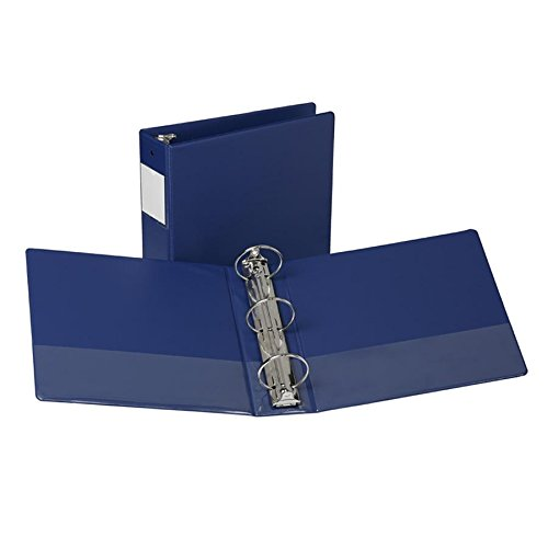 Samsill Clean Touch 3 Ring Binder, Protected by Antimicrobial Additive, 3 Inch Capacity, Reference Binder with Label Holder, Locking Round Ring, Blue