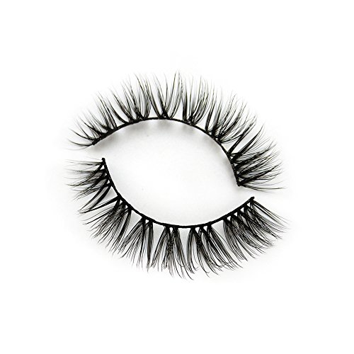 BEPHOLAN False Eyelashes  0.05mm Thickness Synthetic Fiber Material  3D Faux Mink Lashes  Natural Look  Reusable  100% Handmade& Cruelty-free  1 Pair without Glue  XMZ87
