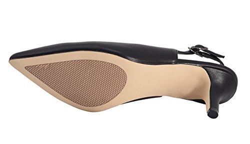 Soft Pu Hb1674 Pour 1uk Matte Black Femme Escarpins Camssoo vq0gR8