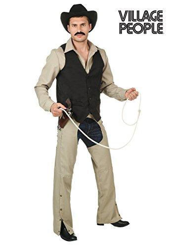 Plus Size Village People Cowboy Costume - -