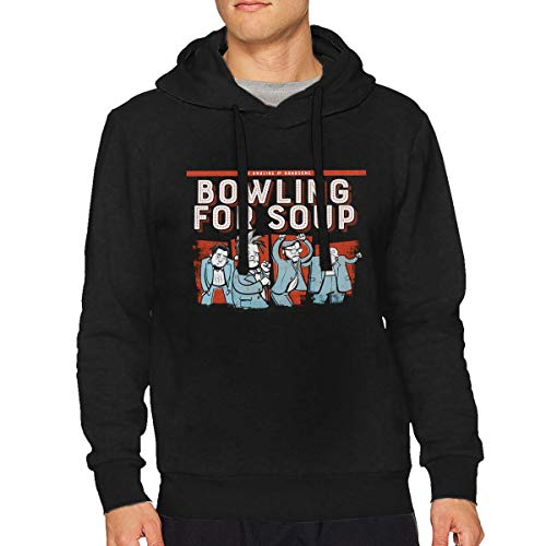 StellaR. Walker Mans Bowling for Soup Music Band Long Sleeve Loose Hooded Classic Sweater Hoodie Tops L