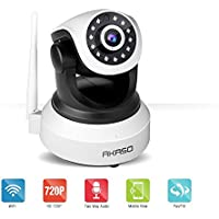 AKASO IP1M-903 Wireless 2.4GHz & 720P IP camera Wifi Security Home Monitoring CCTV Surveillance Network Webcam Pan/Tilt Video Surveillance 2 way Audio SD Card Slot Night Vision