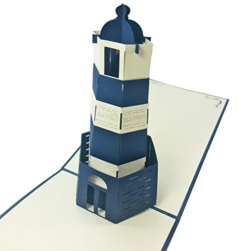 Lighthouse - WOW 3D Pop Up Greeting Card for All Occasions - Birthday, Congratulations, Good Luck, Anniversary, Get Well, Love, Good Bye