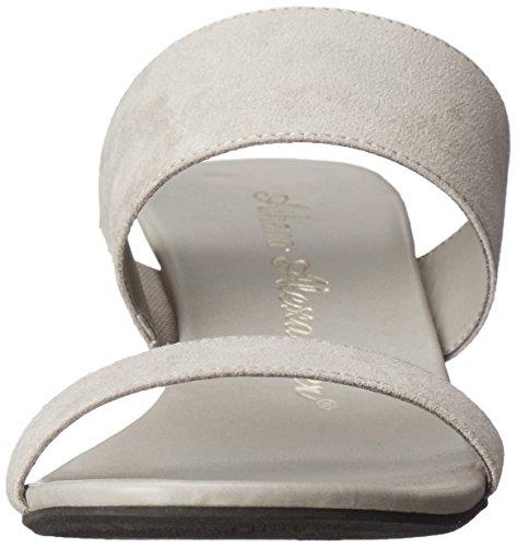 Athena Alexander Mujeres Sparkler Wedge Sandal Grey Suede