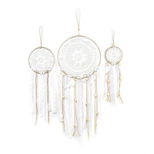 Sundlight Wall Hanging Catcher, 3PCS Handmade Dream Catcher Macrame Woven Wall Hanging Decor for Home Living Room Bedroom by Sundlight