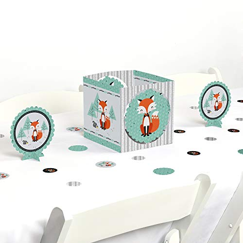 Big Dot of Happiness Mr. Foxy Fox - Baby Shower or Birthday Party Centerpiece & Table Decoration Kit