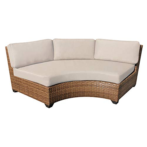 Delacora TKC025b-CAS-DB-BEIGE Laguna Outdoor Pack of Two 61 Inch Wide Aluminum Framed Acrylic Upholstered Outdoor Corner Sofa for Sectional TKC-DPF-LAG03c