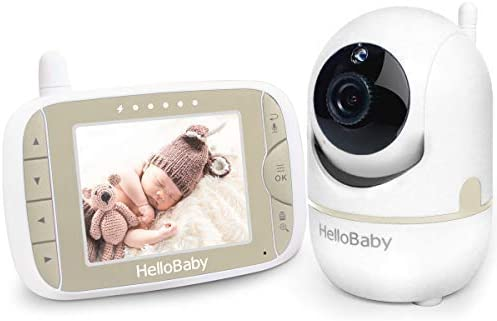 Baby Monitor with Remote Pan-Tilt-Zoom Camera and 3.2 LCD Screen, Infrared Night Vision