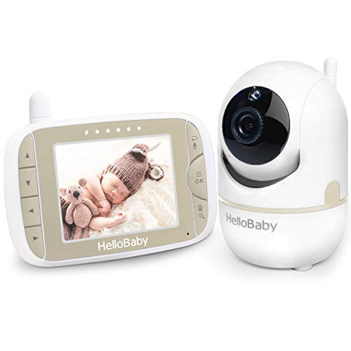 Best Deals! Baby Monitor with Remote Pan-Tilt-Zoom Camera and 3.2'' LCD Screen, Infrared Night Visio...