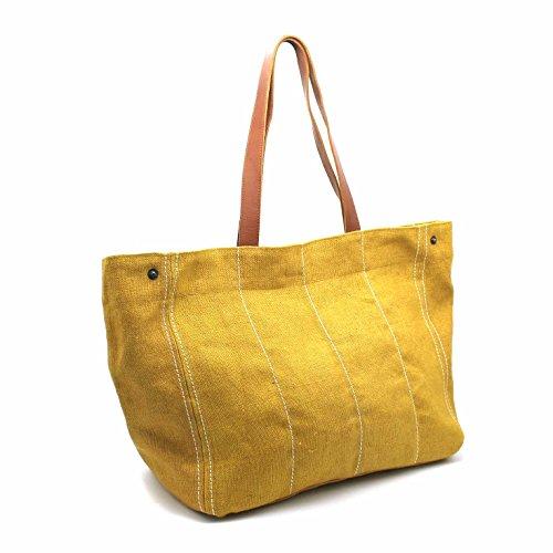 été sac sac grand jute cabas sac toile de étudiante cabas école sac Cabas d'été sac Lila grand Jaune plage en SqwfT78