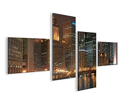 Quadro moderno Chicago 4LP Impresión sobre lienzo - Quadro X ...