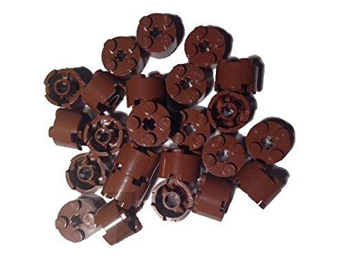 Lego Bricks, 2x2 Round, Reddish Brown, Set of - Brown Rounds