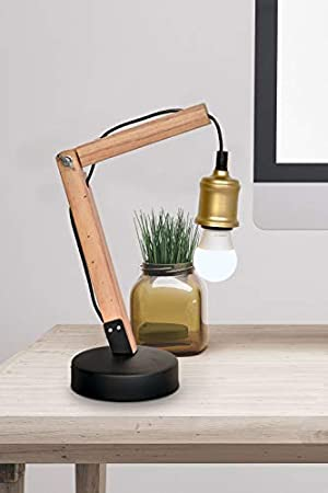 Lámpara de mesa lámpara para leer Madera Lámpara De ...