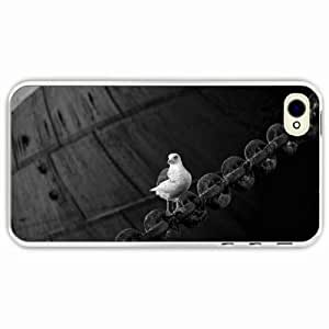 iPhone 4 4S Black Hardshell Case sitting chain Transparent Desin Images Protector Back Cover